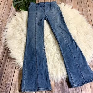 WE THE FREE High Rise Pull On Flare Jeans